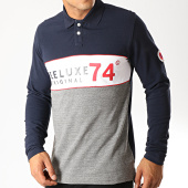 /achat-polos-manches-longues/deeluxe-polo-manches-longues-squazzie-bleu-marine-gris-chine-blanc-194036.html