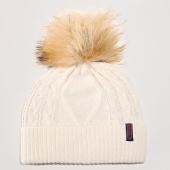 /achat-bonnets/superdry-bonnet-femme-lannah-cable-ecru-193983.html