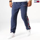 /achat-pantalons-joggings/tommy-sport-pantalon-jogging-a-bandes-woven-0209-bleu-marine-blanc-rouge-194039.html