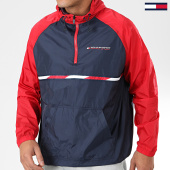/achat-coupe-vent/tommy-sport-coupe-vent-woven-with-tape-0234-rouge-bleu-marine-blanc-194041.html