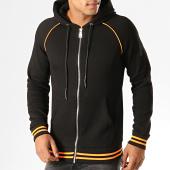 /achat-sweats-zippes-capuche/ikao-sweat-zippe-capuche-f660-noir-orange-fluo-194072.html