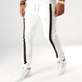 /achat-pantalons-joggings/ikao-pantalon-jogging-a-bandes-f663-ecru-194225.html