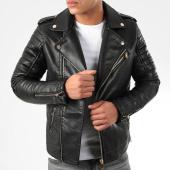 /achat-vestes-biker/lbo-veste-biker-79717-noir-dore-194247.html