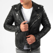 /achat-vestes-biker/lbo-veste-biker-79717-noir-argente-194248.html