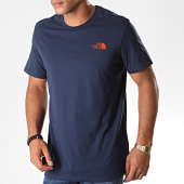 /achat-t-shirts/the-north-face-tee-shirt-simple-dome-2tx5-bleu-marine-orange-194223.html