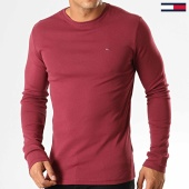 /achat-t-shirts-manches-longues/tommy-hilfiger-jeans-tee-shirt-manches-longues-rib-5089-bordeaux-194142.html