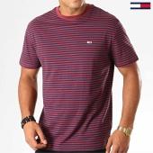 /achat-t-shirts/tommy-hilfiger-jeans-tee-shirt-classics-stripe-5515-bleu-marine-bordeaux-194143.html