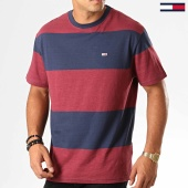 /achat-t-shirts/tommy-jeans-tee-shirt-bold-stripe-6950-bordeaux-bleu-marine-194144.html