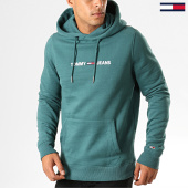 /achat-sweats-capuche/tommy-hilfiger-jeans-sweat-capuche-straight-logo-7030-vert-194147.html