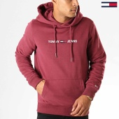 /achat-sweats-capuche/tommy-hilfiger-jeans-sweat-capuche-straight-logo-7030-bordeaux-194149.html