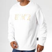 /achat-sweats-col-rond-crewneck/versace-jeans-couture-sweat-crewneck-uum302-logo-b7gub7k0-30220-blanc-dore-194064.html