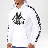 /achat-sweats-capuche/kappa-sweat-capuche-avec-bandes-authentic-hurtado-blanc-194338.html