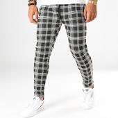 /achat-pantalons-carreaux/terance-kole-pantalon-carreaux-te902-noir-blanc-194311.html