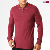 /achat-polos-manches-longues/tommy-jeans-polo-slim-a-manches-longues-6943-bordeaux-194387.html