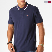 /achat-polos-manches-courtes/tommy-hilfiger-jeans-polo-manches-courtes-classics-tipped-7195-bleu-marine-194400.html
