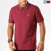 /achat-polos-manches-courtes/tommy-hilfiger-jeans-polo-manches-courtes-classics-tipped-7195-bordeaux-194404.html