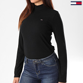 /achat-pulls/tommy-hilfiger-jeans-pull-femme-rib-mock-7135-noir-194420.html