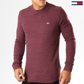/achat-t-shirts-manches-longues/tommy-hilfiger-jeans-tee-shirt-manches-longues-waffle-6957-bordeaux-chine-194448.html