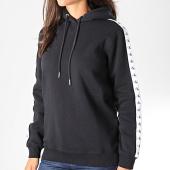 /achat-sweats-capuche/calvin-klein-jeans-sweat-capuche-femme-a-bandes-monogram-tape-2228-noir-194743.html