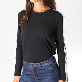 /achat-t-shirts-manches-longues/calvin-klein-jeans-tee-shirt-femme-manches-longues-a-bandes-monogram-tape-straig-2248-noir-194748.html
