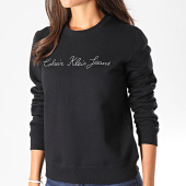 /achat-sweats-col-rond-crewneck/calvin-klein-jeans-sweat-crewneck-femme-chain-stitch-logo-2583-noir-194751.html