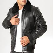 /achat-vestes-cuir/redskins-veste-en-cuir-col-mouton-pilot-victory-noir-194671.html