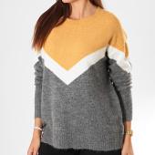 /achat-pulls/vero-moda-pull-femme-luna-ginger-block-orange-gris-chine-194705.html