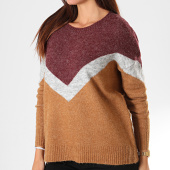 /achat-pulls/vero-moda-pull-femme-luna-ginger-block-bordeaux-chine-camel-chine-194709.html