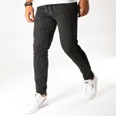 /achat-pantalons-carreaux/aarhon-pantalon-a-rayures-avec-bandes-19085-noir-194809.html