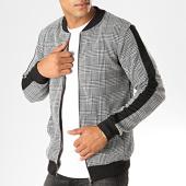 /achat-vestes/frilivin-veste-zippee-a-carreaux-avec-bandes-6147-gris-194965.html
