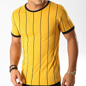 /achat-t-shirts/frilivin-tee-shirt-a-rayures-5351-jaune-moutarde-194975.html