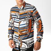 /achat-chemises-manches-longues/frilivin-chemise-manches-longues-68287a-blanc-bleu-marine-orange-renaissance-floral-194983.html