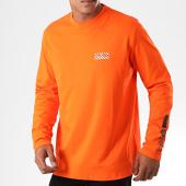 /achat-t-shirts-manches-longues/hugo-by-hugo-boss-tee-shirt-manches-longues-reverse-logo-dyderabad-50414452-orange-noir-194798.html
