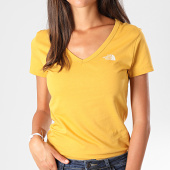 /achat-t-shirts/the-north-face-tee-shirt-slim-femme-col-v-simple-dom-a3h6-jaune-moutarde-194903.html