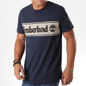 /achat-t-shirts/timberland-tee-shirt-cut-and-sew-logo-1oa4-bleu-marine-ecru-noir-194875.html