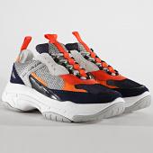 /achat-baskets-basses/calvin-klein-baskets-marvin-low-top-lace-up-nylon-s0592-navy-light-grey-orange-195141.html