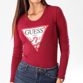 /achat-t-shirts/guess-tee-shirt-slim-femme-manches-longues-w94i88-k7de0-bordeaux-195155.html