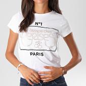/achat-t-shirts/le-temps-des-cerises-tee-shirt-femme-pistache-blanc-dore-195121.html