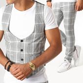 /achat-pantalons-carreaux/mtx-ensemble-gilet-et-pantalon-a-carreaux-dj3002-gris-clair-195081.html