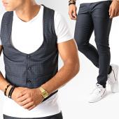 /achat-pantalons-carreaux/mtx-ensemble-gilet-et-pantalon-a-carreaux-dj312-bleu-marine-195083.html