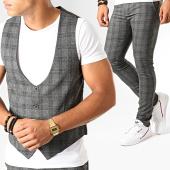 /achat-pantalons-carreaux/mtx-ensemble-gilet-et-pantalon-a-carreaux-dj304-gris-anthracite-chine-195087.html