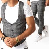 /achat-pantalons-carreaux/mtx-ensemble-gilet-et-pantalon-a-carreaux-dj322-gris-anthracite-chine-195100.html