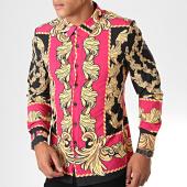 /achat-chemises-manches-longues/uniplay-chemise-manches-longues-c013-noir-rose-renaissance-195137.html