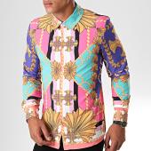 /achat-chemises-manches-longues/uniplay-chemise-manches-longues-c015-rose-vert-clair-renaissance-195162.html