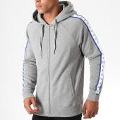 /achat-sweats-zippes-capuche/calvin-klein-sweat-zippe-capuche-a-bandes-monogram-3211-gris-chine-bleu-blanc-195401.html