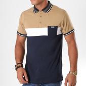/achat-polos-manches-courtes/deeluxe-polo-manches-courtes-poche-todd-bleu-marine-beige-blanc-195356.html