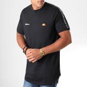 /achat-t-shirts-longs-oversize/ellesse-tee-shirt-oversize-a-bandes-fede-shc05907-noir-195450.html