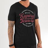 /achat-t-shirts/kaporal-tee-shirt-col-v-obuce-noir-195411.html