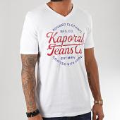 /achat-t-shirts/kaporal-tee-shirt-col-v-obuce-blanc-195412.html