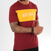 /achat-t-shirts/kaporal-tee-shirt-orys-bordeaux-jaune-moutarde-blanc-195414.html